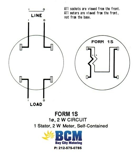 1P2Wwiringdiag wiring diagrams bay city metering nyc Single Phase Meter Wiring Diagram at crackthecode.co