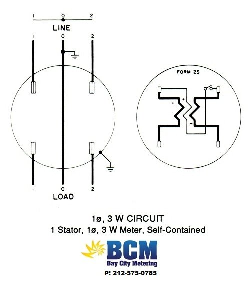 1P3WSwiringdiag wiring diagrams bay city metering nyc meter socket diagram at readyjetset.co