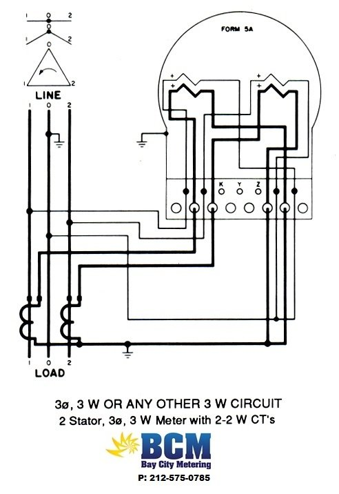 3P3WBCCTwiringdiag wiring diagrams bay city metering nyc single phase meter wiring diagram at reclaimingppi.co
