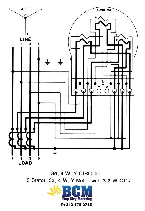 Wiring diagrams bay city metering nyc 3 stator 4 wire y btmcnct w3 2w cts asfbconference2016 Images