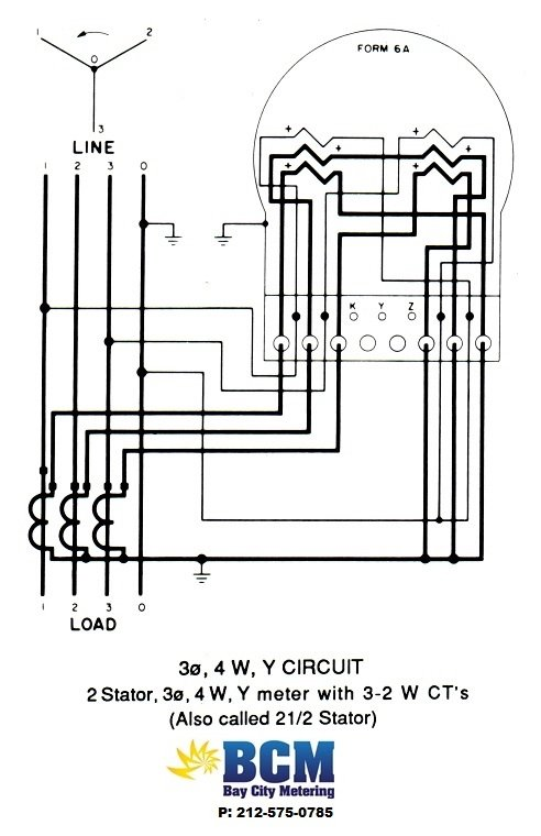 wiring diagrams bay city metering nyc kwh meter wiring diagram 3p 4w y circuit