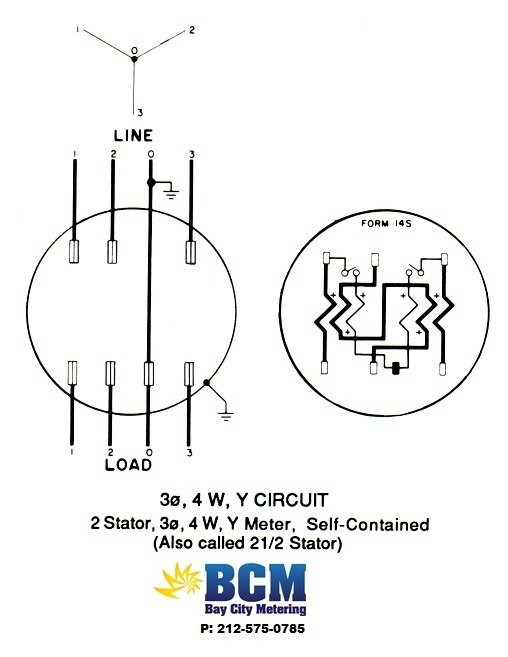 3P4WYSwiringdiag wiring diagrams bay city metering nyc form 5s meter wiring diagram at bakdesigns.co